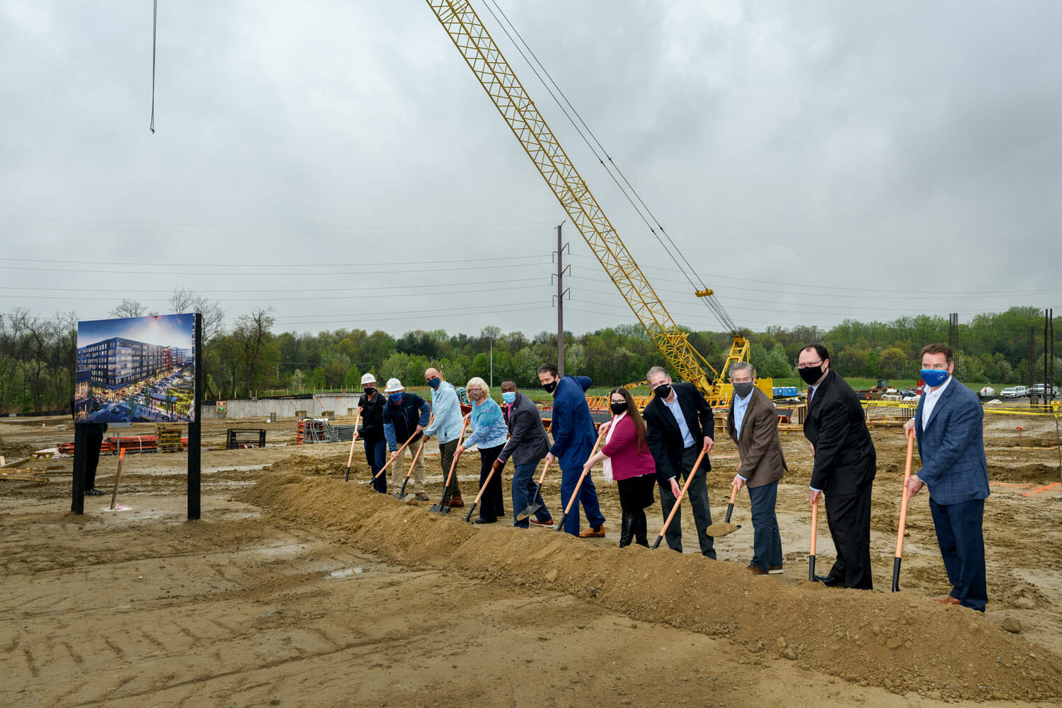 Marlow, A New 510,000 SF Residential Building Breaks Ground In Downtown Columbia